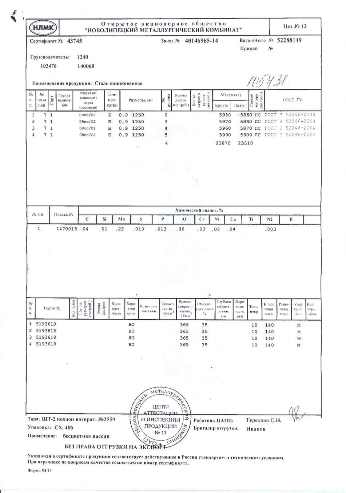 рулон оц. 09х1250 НЛМК